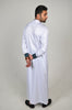 Formal Thobe 18 White with Green Yoke
