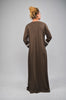 Khaki Green Open Abaya with Zipped pockets