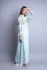 Pure chiffon maxi dress modest