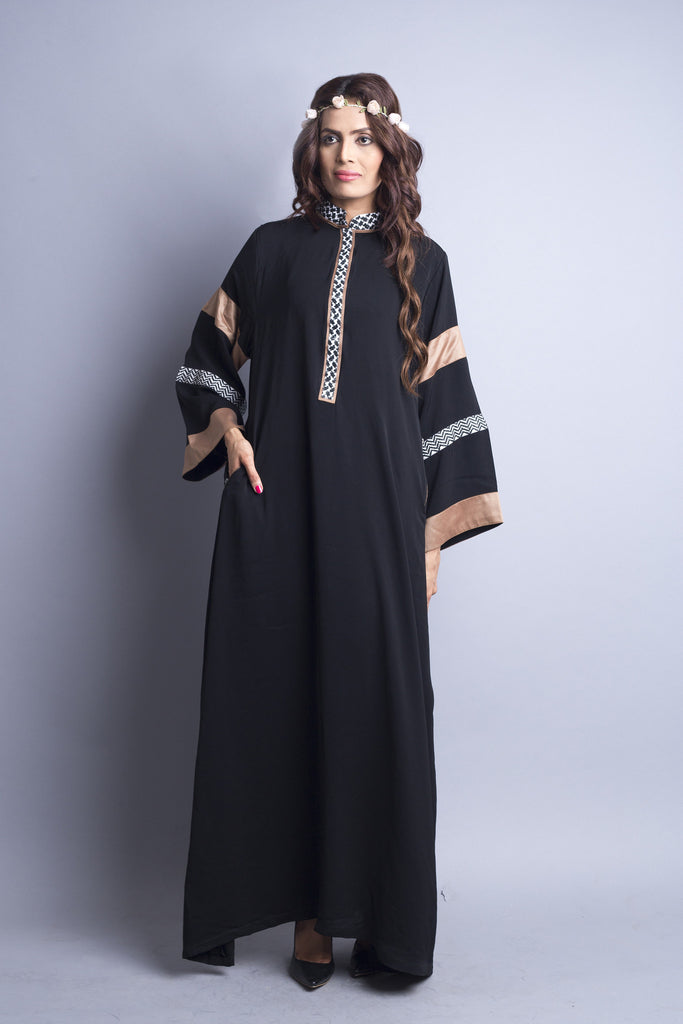 Chenille boutique casual abaya long modest