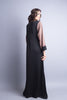 Black Casual abaya with pink sleeves and front zip