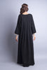 Black Casual abaya with pastel stripes