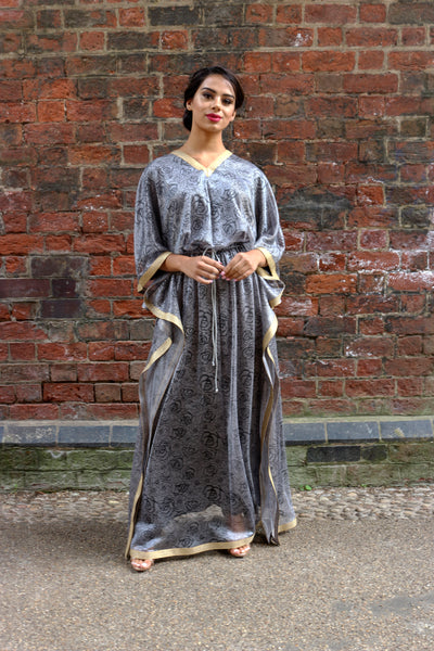 Pre-Fall '18 Steel Grey Lace Kaftan
