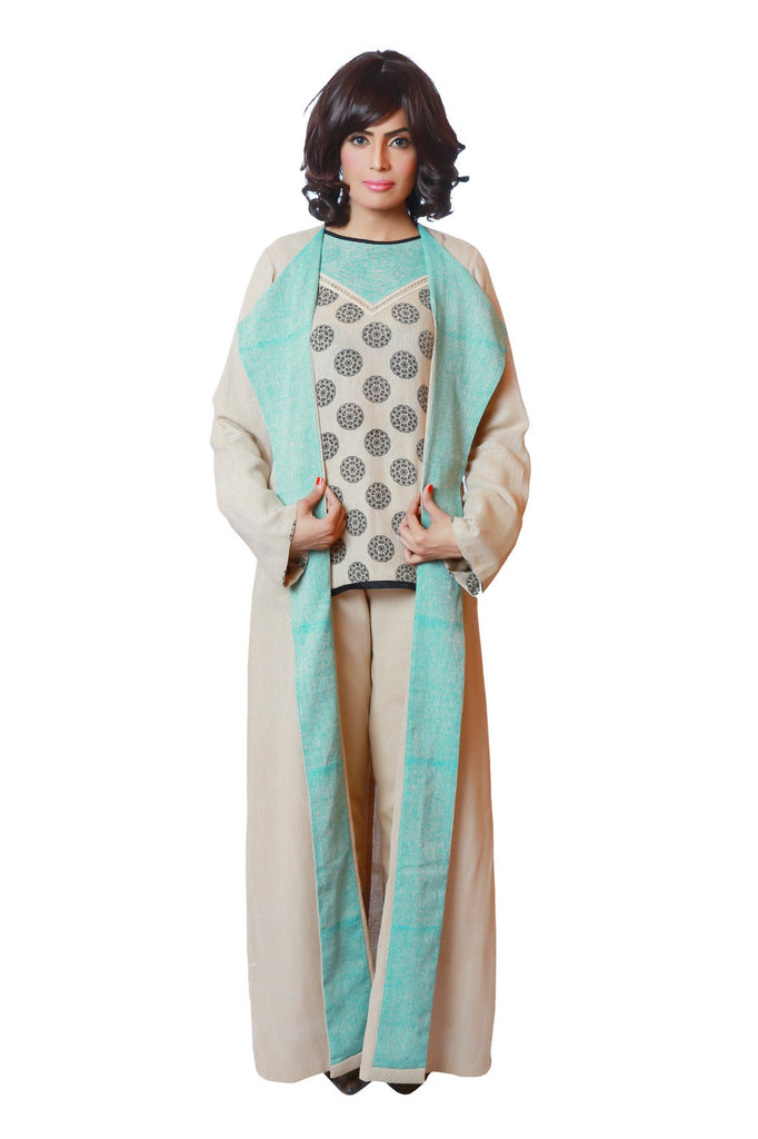 Chenille boutique Long Linen cape abaya