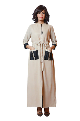 RM16-05 Linen Cape Dress