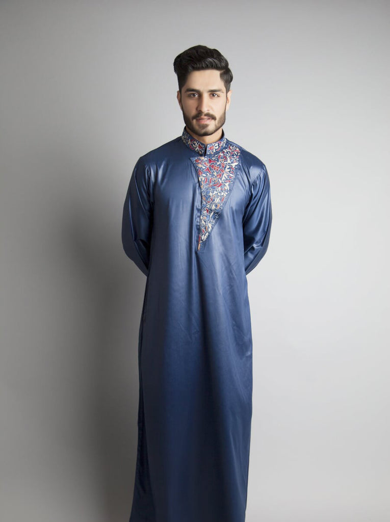 Chenille-Navy Formal Thobe/Jubbani- Custom Thobe