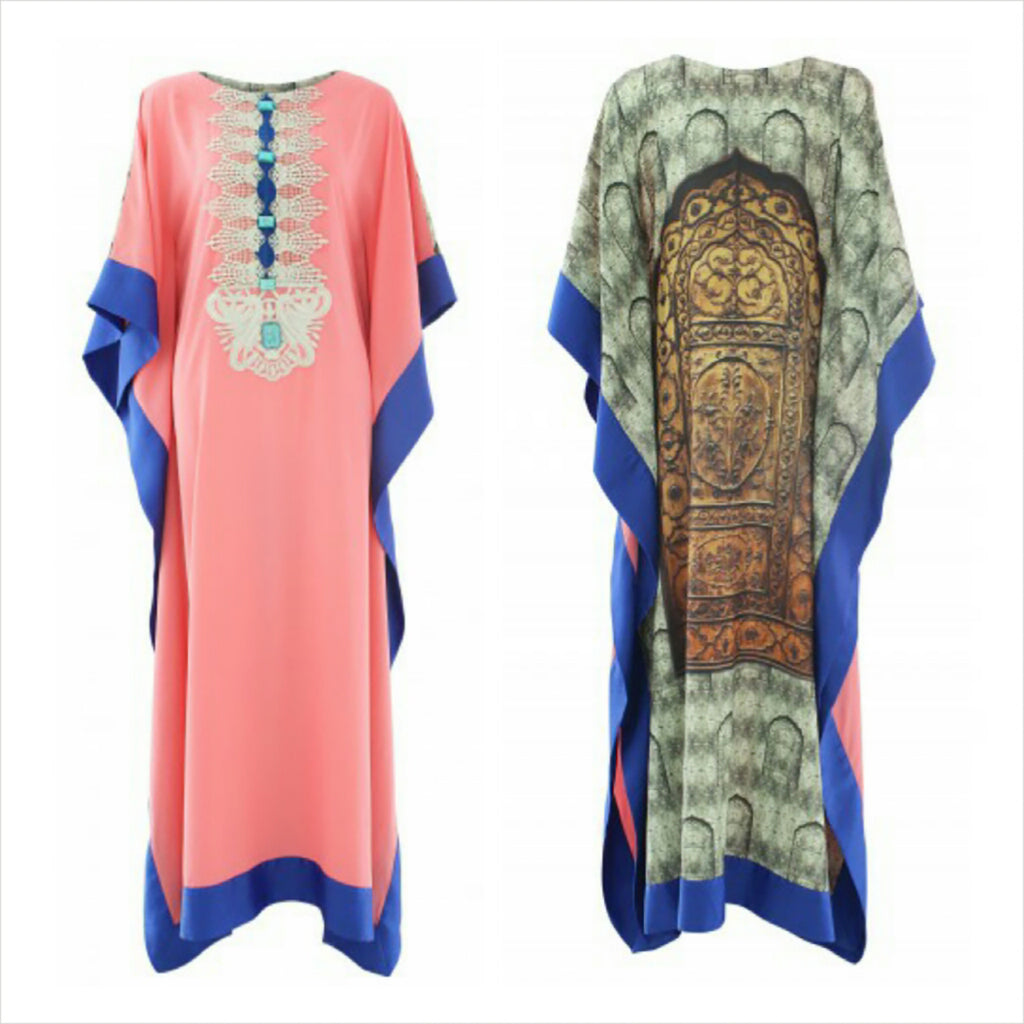 Chenille boutique door printed kaftan