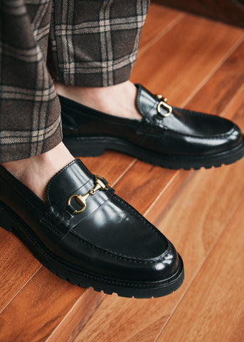 Le Club Black Horsebit Loafer