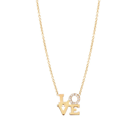Zoe Chicco Diamond Love Necklace