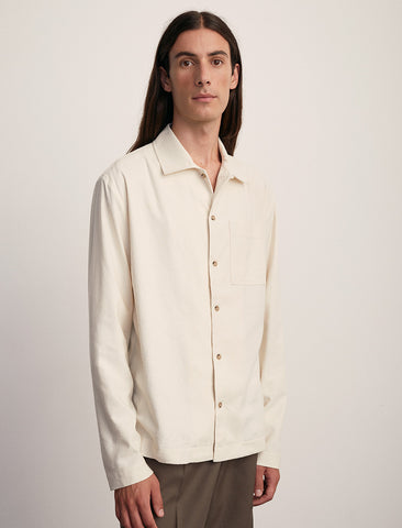 Another Shirt Natural Raw Silk