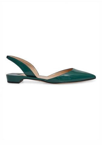 Paul Andrew Amazon Green Rhea Slingback Flats