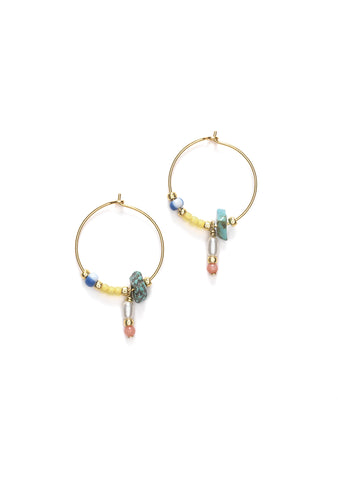 Anni Lu Hanalei Pale Banana Hoop Earrings