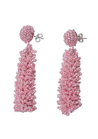 Aprosio & Co. Long Pink Earrings