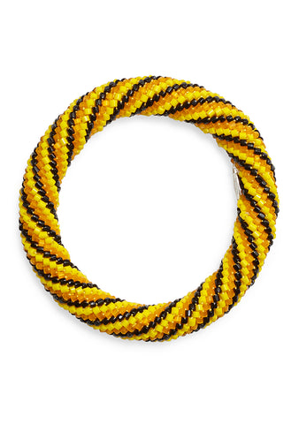 Aprosio & Co. Twisted Yellow & Black Bracelet