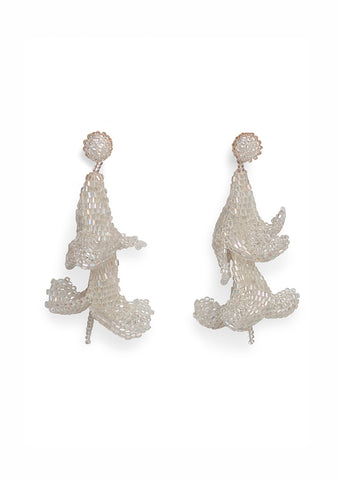 Aprosio & Co. Shell White Wisteria Earrings