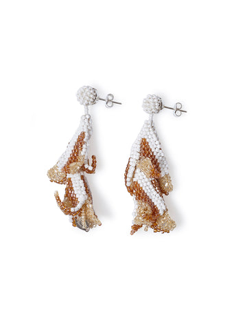 Aprosio & Co. Beige Wisteria Earrings