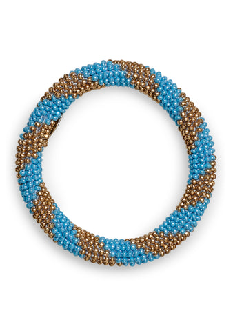 Aprosio & Co. Turquoise & Metal Gold Bracelet