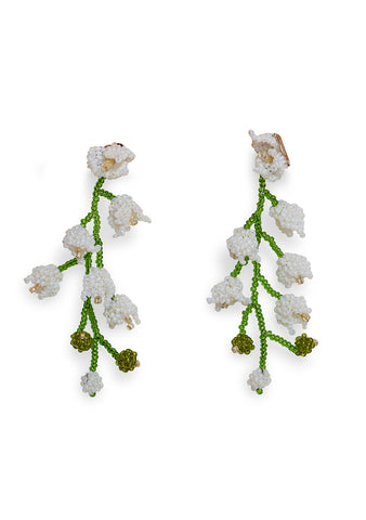 Aprosio & Co. White Double Lily Earrings