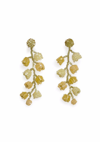 Aprosio & Co. Lemon Yellow Lily Earrings