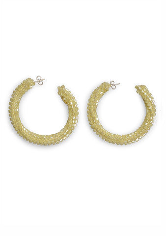 Aprosio & Co. Lemon Yellow Hoop Earrings