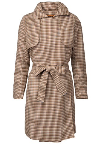 BRGN YR Brown Plaid Coat at lot29