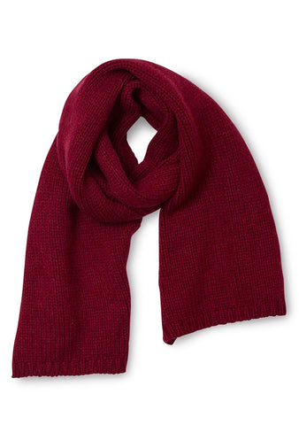 Bad Habits Burgundy Cashmere Scarf
