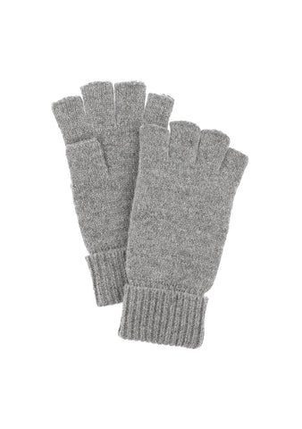 Hestra Basic Wool Half-Finger Light Grey Gloves