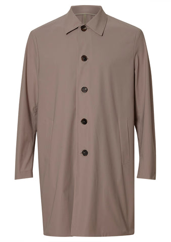 Harris Wharf London Camel Technical Mac Coat shop online