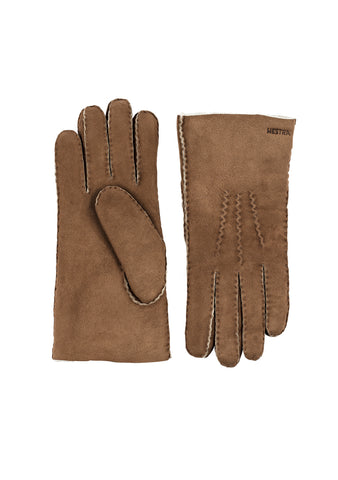 Hestra Beige Sheepskin Gloves