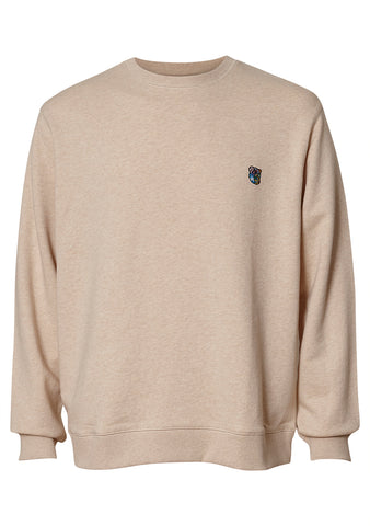 Tonsure Beige Melange Peter Sweatshirt shop online at lot29.dk