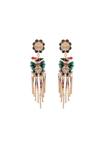 Etro Enamel Bird Earrings