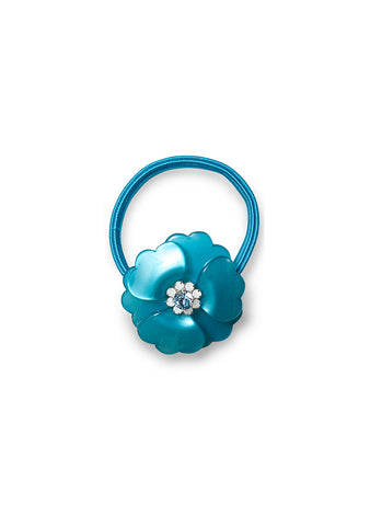 Blue Flower Hair Elastic