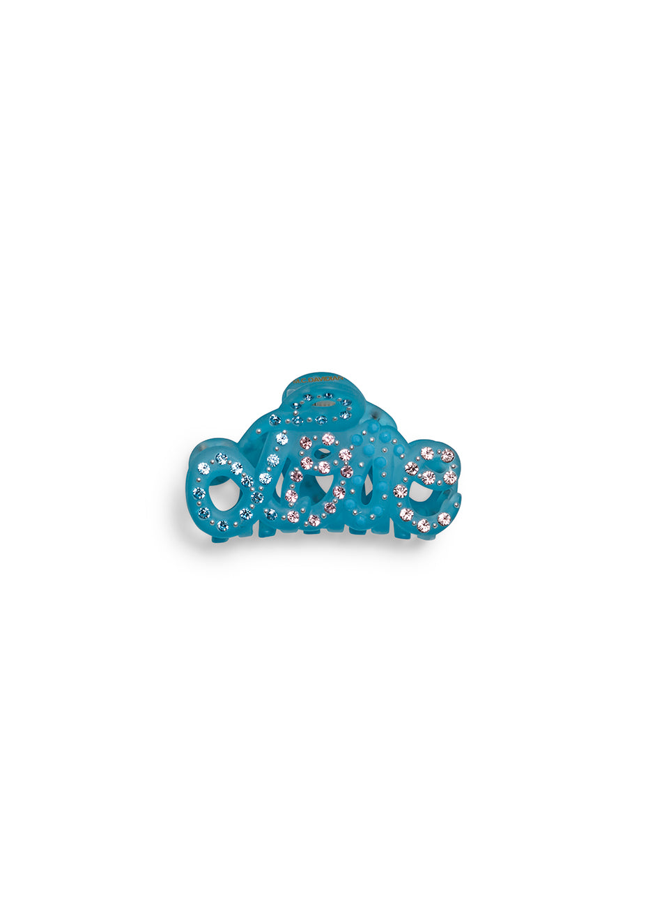 Pastel Blue Love Mini Hair Clip