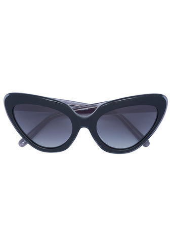 Erdem x Linda Farrow Black Cat Eye Sunglasses