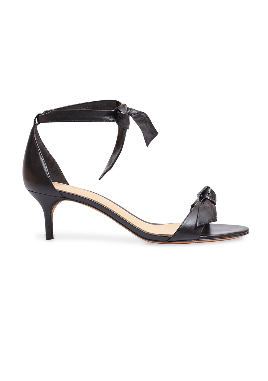 Clarita Black Leather Sandals