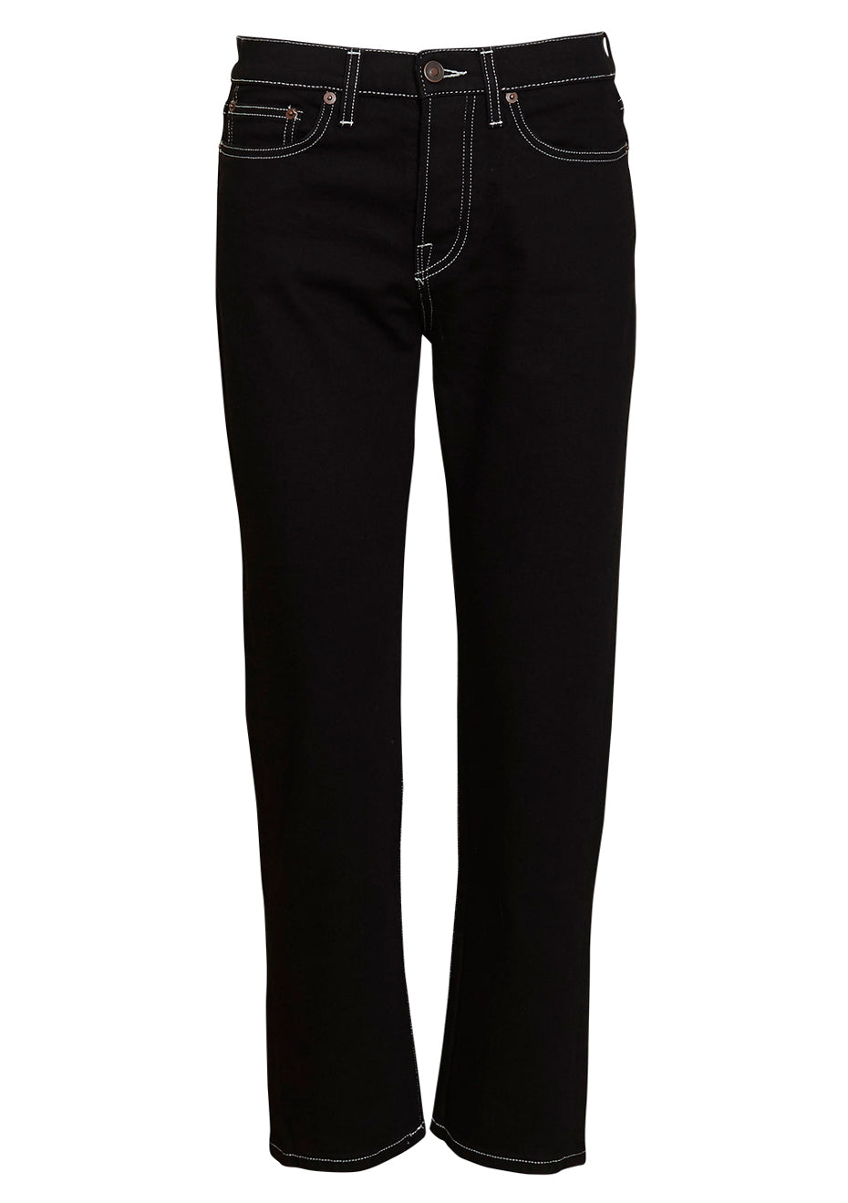 CW002 Black Rinse Contrast Classic Fit Jeans