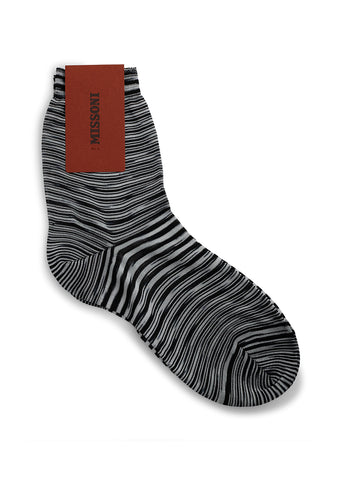 Missoni Black & White Striped Socks