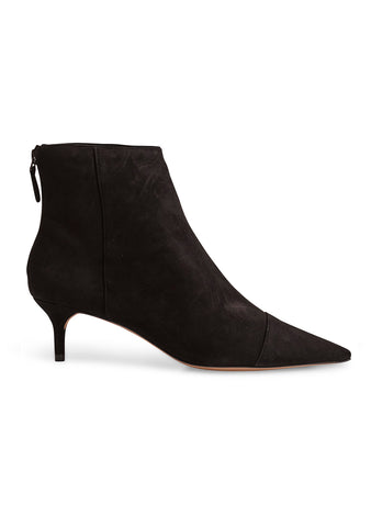 Alexandre Birman Black Suede Kittie Boots