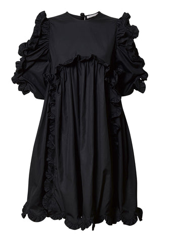 Cecilie Bahnsen Keira Black Puff-Sleeve Dress shop online lot29.dk