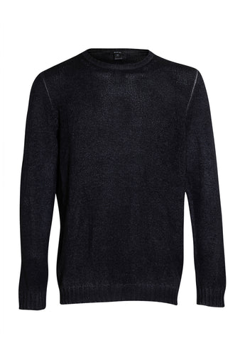 Avant Toi Black Blue Cashmere Sweater SS18