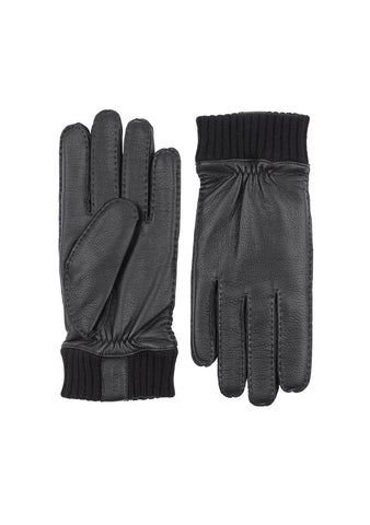 Hestra Black Vale Elk Leather Gloves
