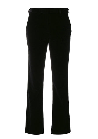 Etro Womenswear Black Velvet Pants