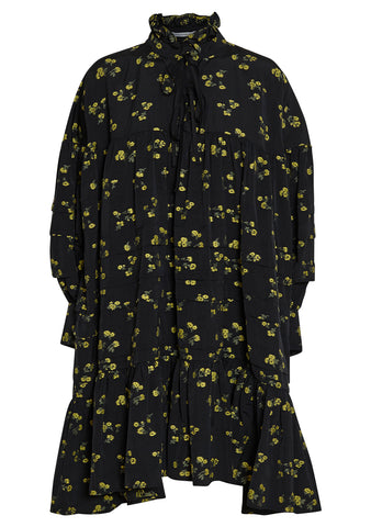 Cecilie Bahnsen Macy Floral Motif Cotton Shirt Dress