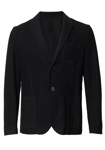 Harris Wharf London Black Reverse Loopback Blazer shop online at lot29.dk