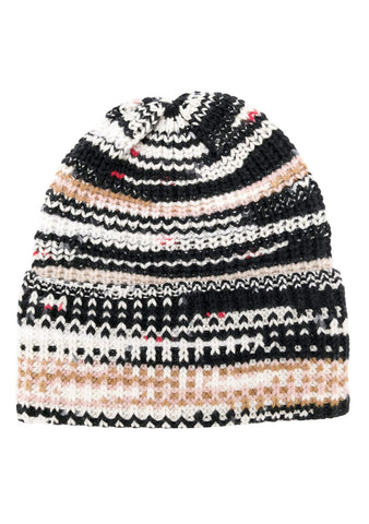 Missoni Black, White & Beige Beanie