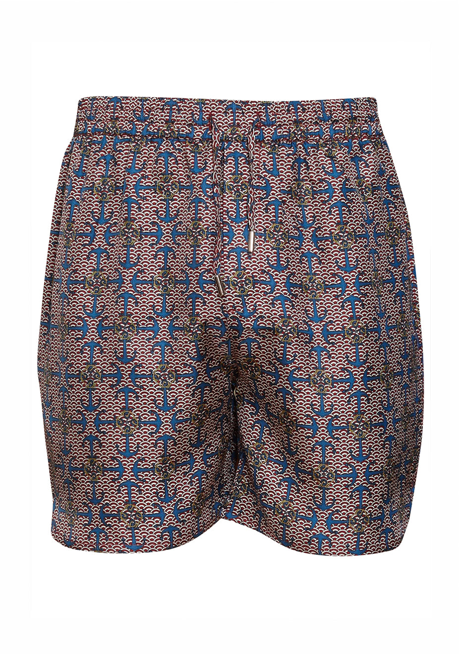 Blue Anchor Silk Shorts