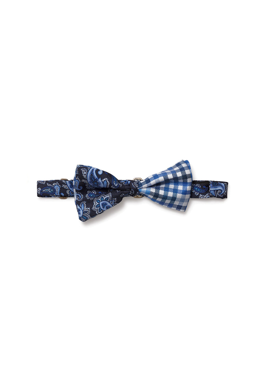 Blue Printed Bow Tie