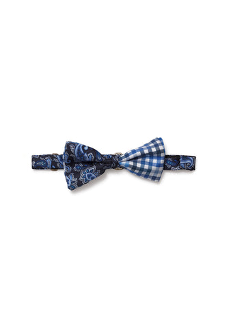 Etro Men Blue Printed Bow Tie