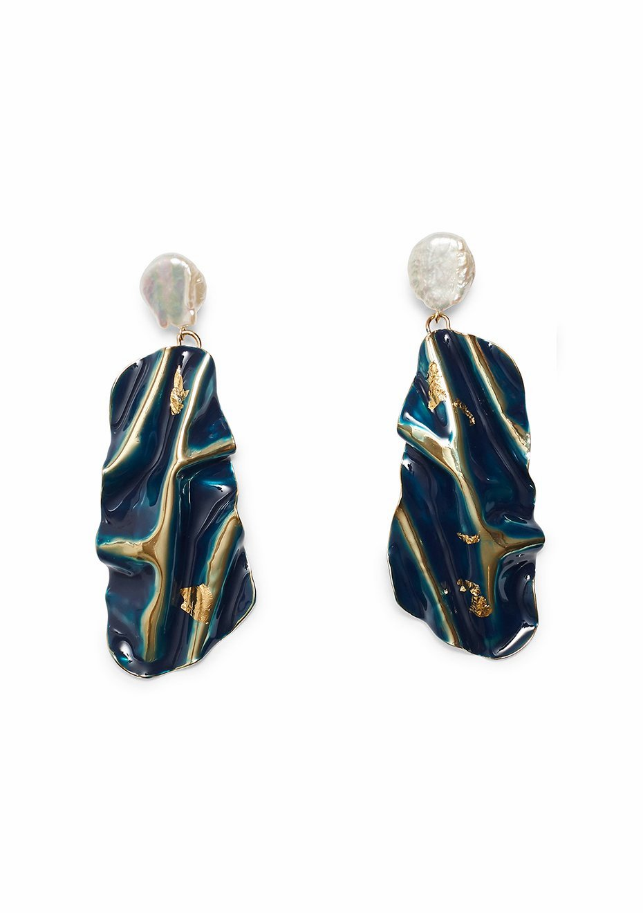 Collision Navy Earrings