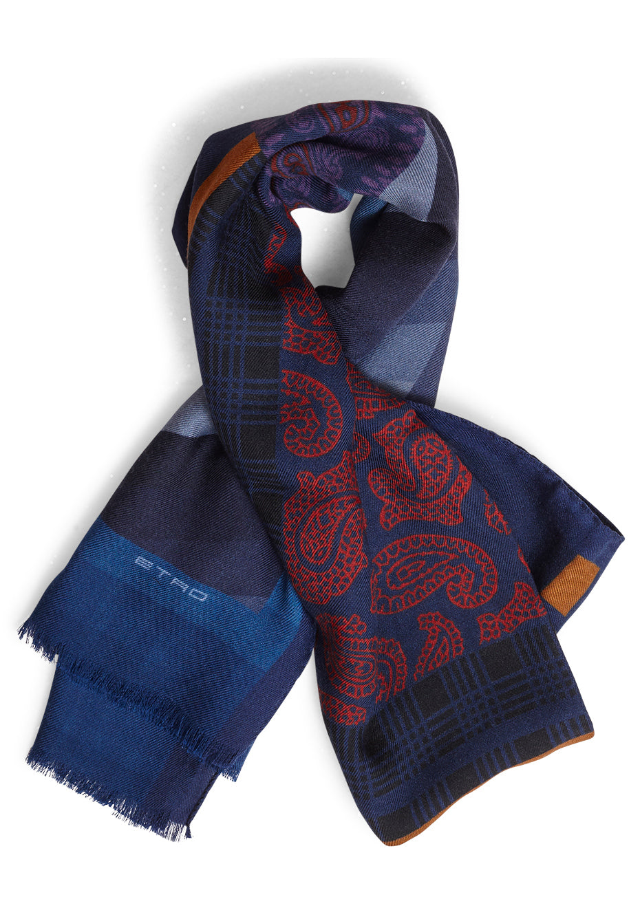 Blue Paisley Scarf
